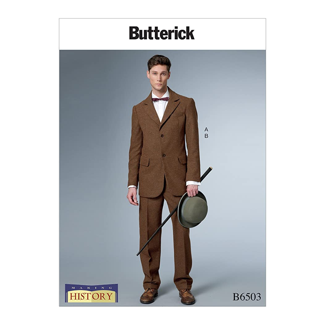 Butterick B6503MQQ Men's Historical Early 20th Century Jacket and Pants Sewing Pattern, Sizes 38-44