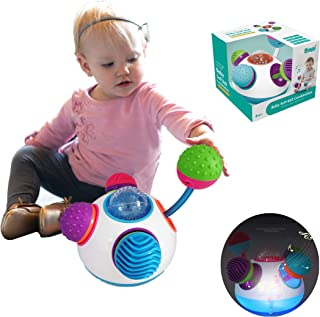 Colorful Baby Sensory Ball Toys Musical Twirl Sensation for Training Hand-Eye Coordination, Infants Soft Ball Combination Kid Early Educational Music Toy Ideal Gift 8 9 10 11 12 Months Boys and Girls