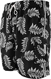Big Men's Cargo Swim Trunks - Tropical Print