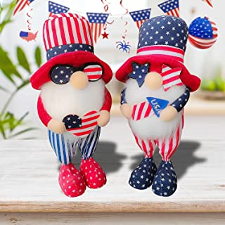SEASONBLOW Independence Day Gnome Decoration
