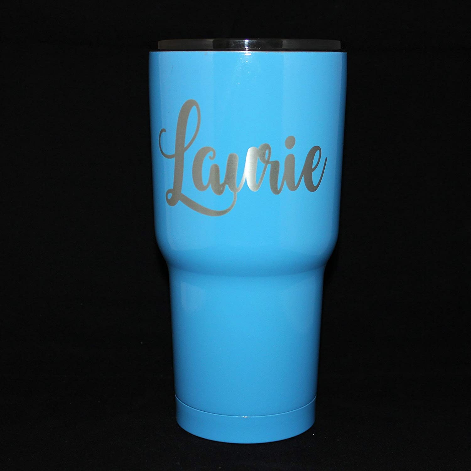 Personalized Powder Daily bargain sale Coated Tumbler. Easy-to-use Engraved Pick Font. A Text.