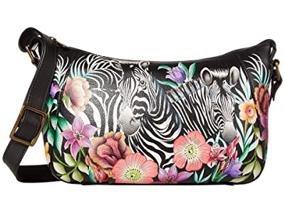 Anuschka Handbags Everyday Shoulder Hobo 670 (Playful Zebras) Handbags