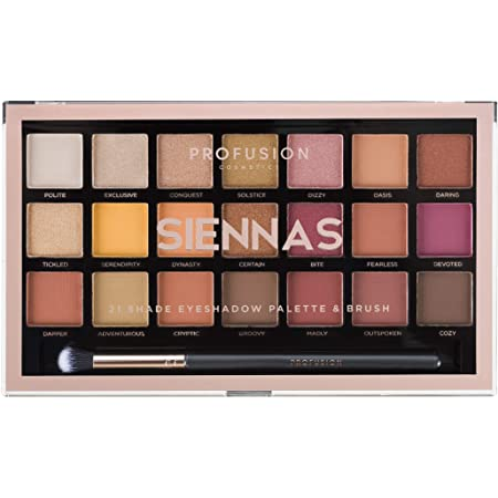 Amazon.com : Profusion Cosmetics 21 Shade Eyeshadow Palette
