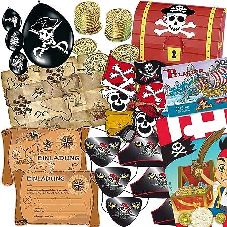 Party Anniversaire anniversaire denfant f/ête Devise Th/ème pirates d/écoration T/ête de mort * 12/Boussoles avec porte-cl/és cadeau pour un anniversaire denfant////Boussole Pirates Chasse au tr/ésor