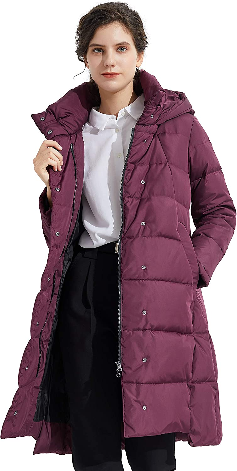 Orolay Women's Hooded Down Jacket Long Winter Coat : Sports & Outdoors