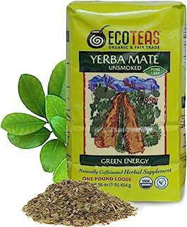 ECOTEAS - Organic Unsmoked Yerba Mate Tea - Pure Loose Leaf Tea - 1Lb - Organic Detox Tea - Yerba Mate Loose Leaf - Hi Caf...