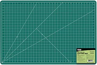 "US Art Supply 24"" x 36"" GREEN/BLACK Professional Self Healing 5-Ply Double Sided Durable Non-Slip PVC Cutting Mat Great fo..."