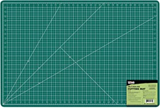 (60cm x 90cm , Green/Black) - US Art Supply 60cm x 90cm GREEN/BLACK Professional Self Healing 5-Ply Double Sided Durable N...