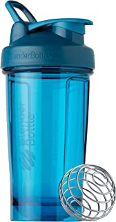 BlenderBottle Shaker Bottle Pro Series Perfect for Protein Shakes and Pre Workout, 24-Ounce, Ocean Blue