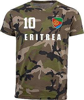 Albanien Camouflage T-Shirt WM 2018 Trikot Style Fußball Nummer ALL 10
