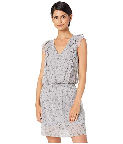 kensie Loose Floral Printed Dress KS4K8355 (Sheltered Grey Combo) Women