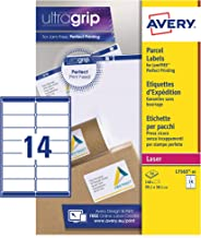 Avery Self Adhesive Address Mailing Labels (Amazon FBA Barcode Labels), Laser Printers, 14 Labels Per A4 Sheet, 140 Labels, UltraGrip (L7163)