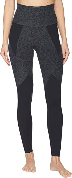 Spacedye Paneled High-Waisted Long Leggings