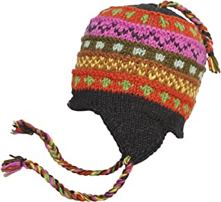 Hand Knit Woolen Colorful Winter Snow Hat Beanie
