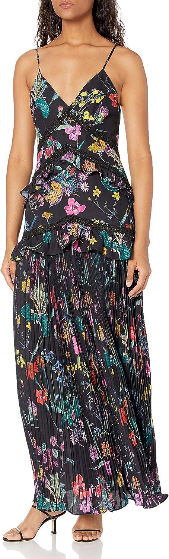 Elliatt Women's Apparel Paradox Maxi Dres Pleated V-Neck Limited Special Over item handling ☆ Price