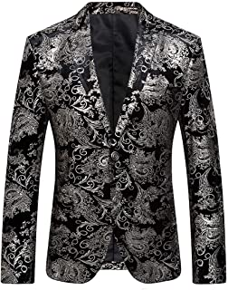 Benibos Men's Fashion Suit Jacket Blazer One Button Luxury Weddings Party Dinner Prom Tuxedo