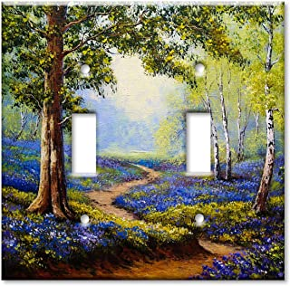 Art Plates 2-Gang Toggle OVERSIZE Switch Plate/OVER SIZE Wall Plate - Spring Time in the Forest