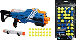 Nerf Rival Hypnos XIX-1200 Blaster, Blue bundle with Nerf Rival 50-Round Refill, Yellow-Blue