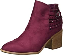 Carlos by Carlos Santana Women's Ashby Ankle Boot, Malbec, 7.5 Medium US
