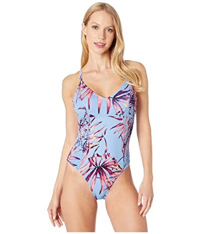Jessica Simpson Palmy Days Camisole One-Piece (Lilac Multi) Women