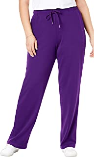 Woman Within Women's Plus Size Sport Knit Straight Leg Pant