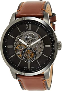 Fossil 48mm Townsman Men's Grey Dial Leather Analog Watch - ME3181