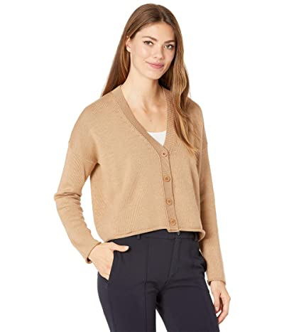 Eileen Fisher Button Front Cardigan (Honey) Women