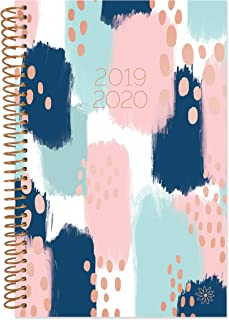 """bloom daily planners 2019-2020 Academic Year Day Planner Calendar (August 2019 - July 2020) - 6"""" x 8.25"""" - Weekly/Monthly Agenda Organizer Book with Tabs & Flexible Soft Cover - Paint Strokes"""