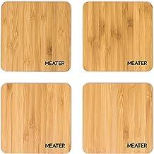 MEATER Natural Bamboo Drink Coasters - onderzetters van natuurlijke bamboe - Set van 4 100% milieuvriendelijke, stijlvolle...