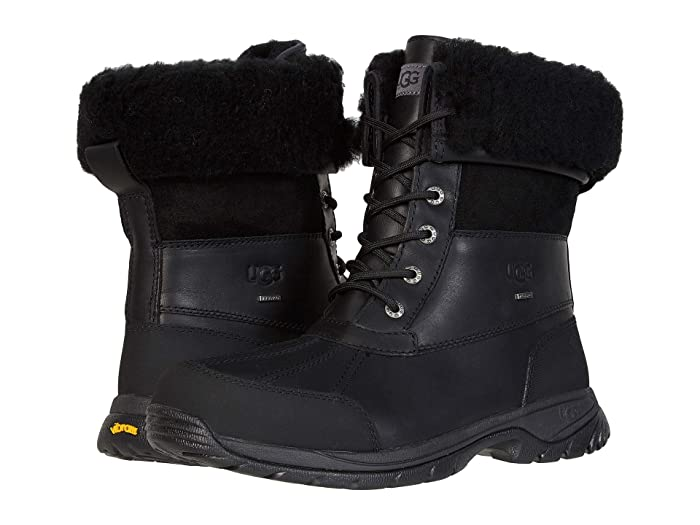UGG  Butte (Black Leather) Mens Waterproof Boots