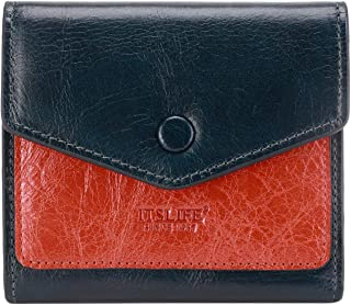 Itslife Small Leather Wallet for Women, RFID Blocking Women's Credit Card Holder Mini Bifold Purse Pocket