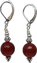 Ruby Mode Grape Pyramid Single Stone Short Earrings