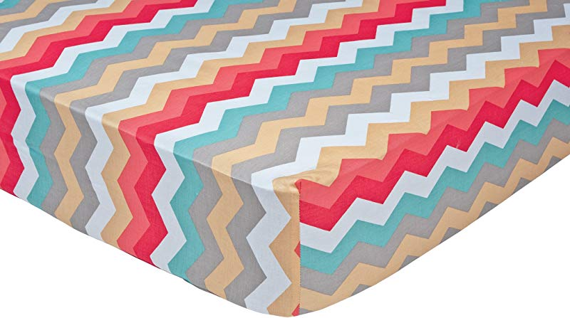 Trend Lab Waverly Pom Pom Play Crib Sheet Chevron