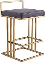 TOV Furniture TOV-D4118 The Trevi Collection Contemporary Velvet Upholstered Counter Stool, Slub Gray