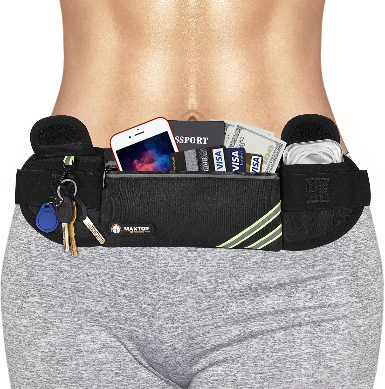 MAXTOP No-Bounce Reflective Running Belt Fanny Pack Pouch 5 ☆ very depot popular Unisex