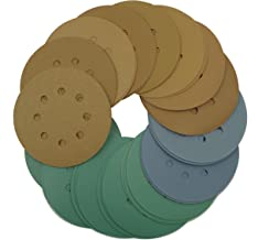 Tigershark 5 Inch 8 Hole Sanding Discs Grit 60/80/100/120/150/180/220/320/400/600/800/1200/1500/2000/2500/3000 3pcs each Assorted Hook and Loop Random Orbital Sander Paper