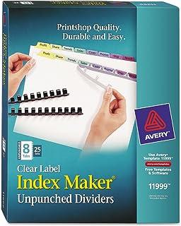 Averyamp; Reg; Index Maker clair Label contemporain couleur Intercalaires, Eight-tab, cinq Ensembles/Lot