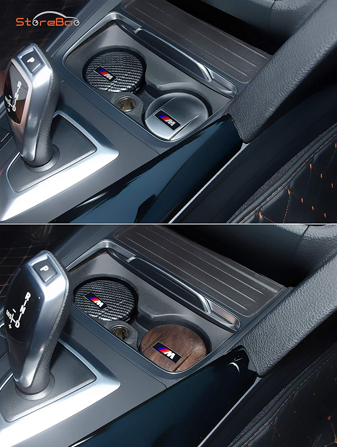 Carbon Fiber StoreBao Car Ashtray With LED Exclusively For BMW 1//3//5 Series And X1//X3//X5//X6