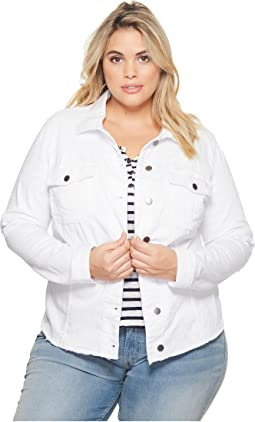 Plus Size Kara Jacket w/ Frayed Hem