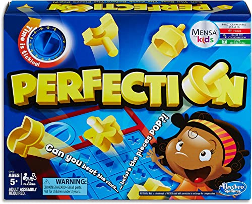 Perfection - Can you beat the clock - 1 Plus Players - Mensa for Kids Educational Games & Toys - Ages 5+