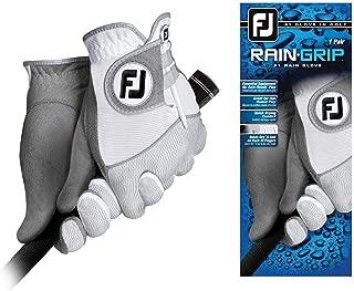 FootJoy Men's RainGrip Golf Gloves, Pair (White)