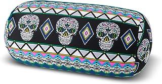 Kuschel-Maxx Cojín Cervical con microperlas, en 19 Colores, Certificado Öko Tex Standard 100, 33 x 17 cm, diseño de Calavera, Color Negro
