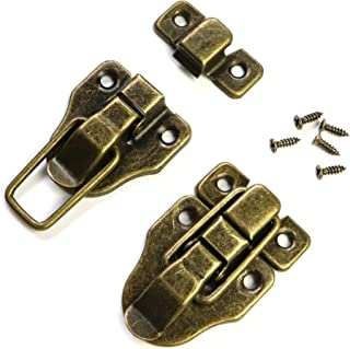 Antique Bronze Duckbilled Box Hasp Toggle Latch Catch Lock with Screws for Wooden Jewelry Boxes, Chests, Trunks (12 Pieces)