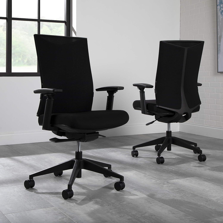 HON Basyx Movement Commercial-Grade 2021 new Regular store Mesh Task Office Bla Chair