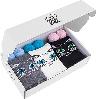 Rainbow Socks, Mujer Gato Calcetines Felpa - Cat Socks Box