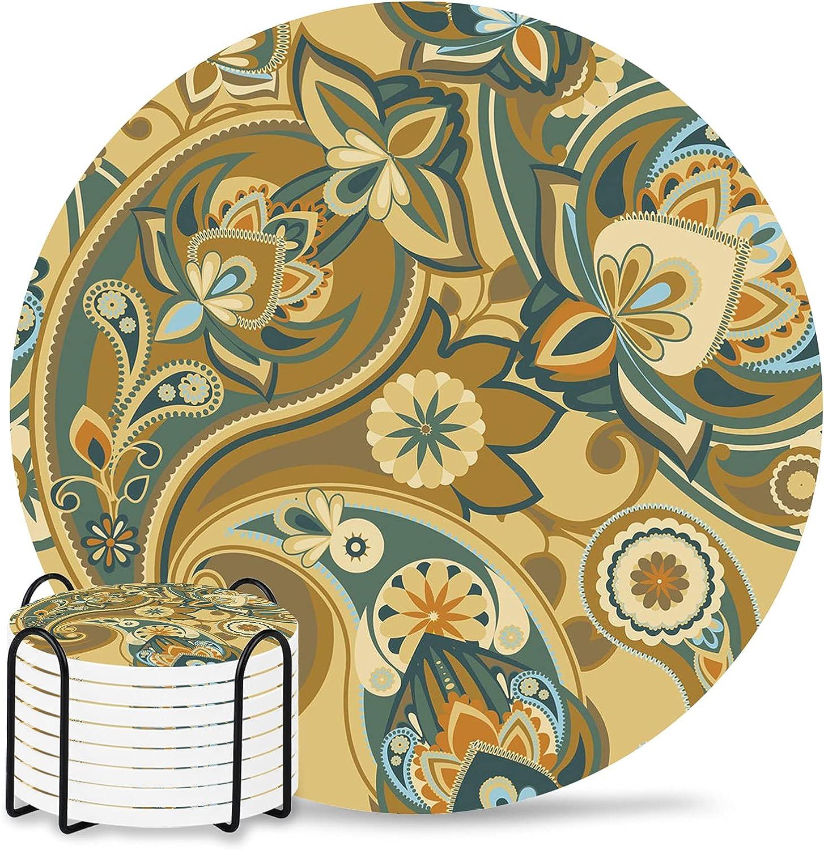 Perris 4 inch Sales Ceramic Coaster Men Financial sales sale for Women Drink
