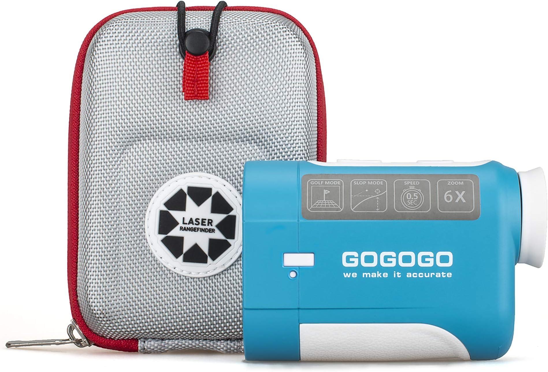 Gogogo Sport Vpro Laser Rangefinder, Golf & Hunting Range Finder with Slope, Pinsensor - Flag-Lock, 650Y/900Y Golfing Distance Measure