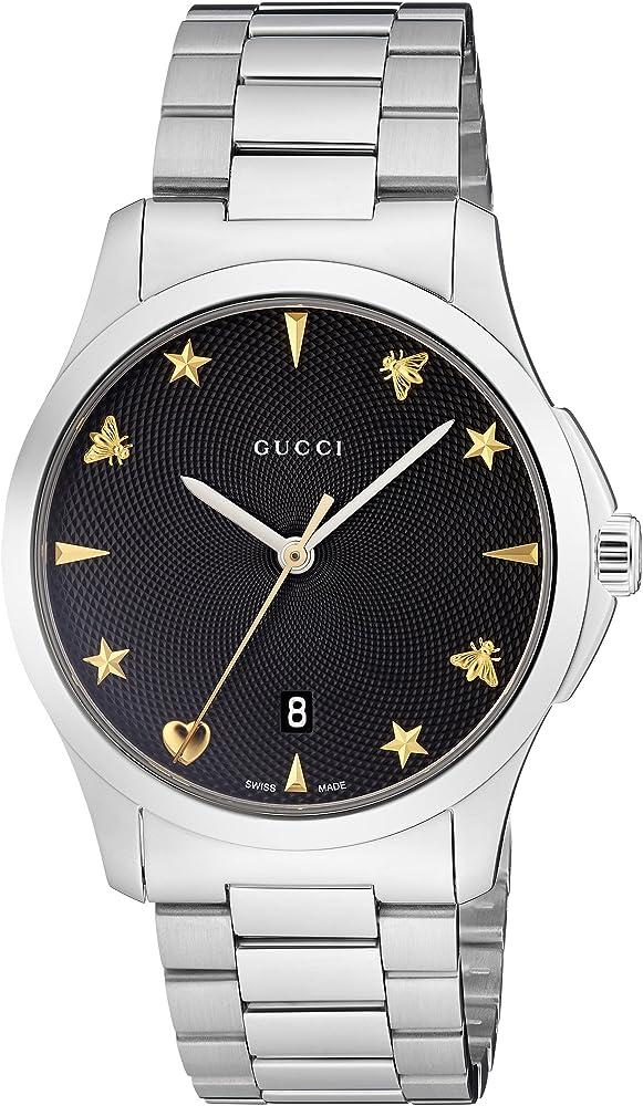 Gucci, orologio unisex,in accio inossidabile YA1264029