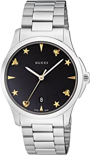 Gucciadultanalogue Classic Quartz Watch With Stainless Steel Strap Ya1264029, For Unisex