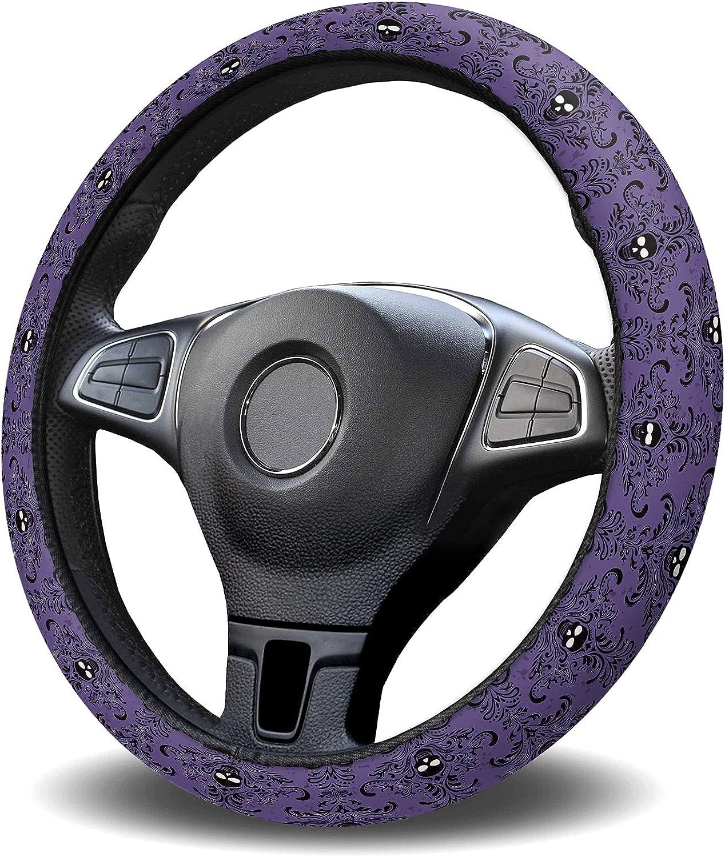 Zadaling Steering Wheel Covers Happy Ranking TOP12 Cheap sale Skul Black Halloween Purple